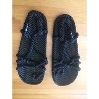 Хит лета 2019 Сандалии из переработанных веревок на 39-40 размер. Состояние новых, только примеряла дома. Очень хотела приобрести такие сандалии, покупала именно для отдыха.