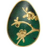 """Палау 1 доллар. """"Императорское яйцо Фаберже. Зелёное"""" Монета в капсуле; сертификат. ЗОЛОТО 0,5гр."""