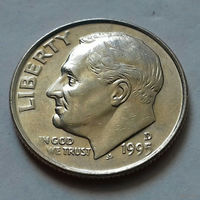 10 центов (дайм) США 1995 D