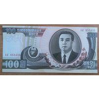 Северная Корея. 100 вон (образца 1992 года, P43, UNC)