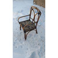 Старый плетеный стул СССР