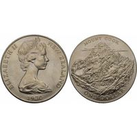 Новая зеландия 1 доллар 1970 гора Кука UNC