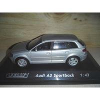 Audi A3 Sportbak.1:43.(Премиум -комплектация от Welly),.4