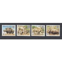 Фауна. Носороги. Свазиленд. 1987. 4 марки. Michel N 528-531 (30,0 е)