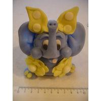 Копилка слоник фигурка Милый голубой слоник приносит удачу!
