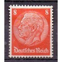 Германия Стандарт Гинденбург 8 pf (*) 1934 г