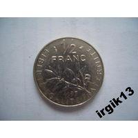 1/2 франка 1997 г. Франция.