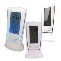 Часы - будильник, со светодиодной подсветкой, многофункциональные: музыка, календарь, термометр, часы, будильник. распродажа
