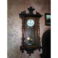 Часы настенные с боем,Германия,Густав Беккер, обслужены мастером. Бой час и пол часа