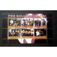 Конго 2009 г. The Rolling Stones. Мик Джаггер. Роллинг Стоунз. Известные люди, артисты, полная серия, лист #0173-Л1P10