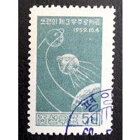 Корея  1960 г. Космос. Зонд Луна-2. 1 марка #0006-K1