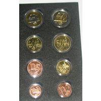 Набор пробных евро 2009 Ватикан (8 монет)