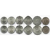 Пакистан 6 монет 1968-1996 годов. (XF-UNC)