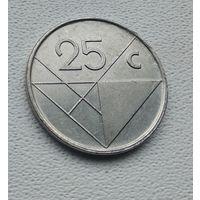 Аруба 25 центов, 1990  8-11-28