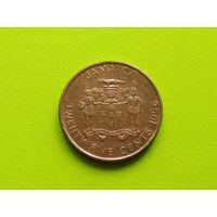 Ямайка. 25 центов 1996.