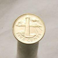Барбадос 5 центов 2004