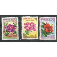 Верхняя Вольта 1963 Флора, Цветы ; 3 м.*,из серии