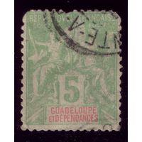 1 марка 1892 год Гваделупа 30 4
