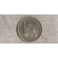 Германия / ГДР/ 5 марок 1988  /САКСОНИЯ/ПАРОВОЗ/ //(AR)