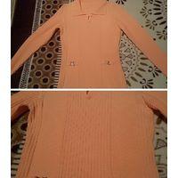Кофточка нежного оранжевого цвета - размер 42-44