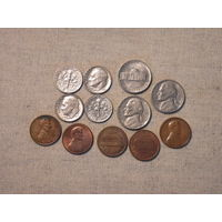 Лот из 12 монет США