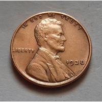 1 цент, США 1938 г.