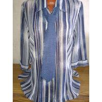 Стильная блузка с галстуком, размер 46-48