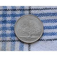 25 центов 1999 P СШA Connecticut медно-никелевый сплав