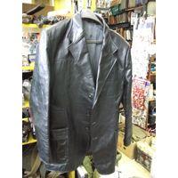 Пиджак советский кожаный, размер 50/3.