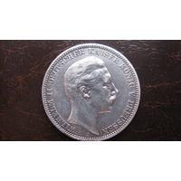 Пруссия 3 марки 1909 А ( серебро )