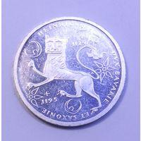 "ФРГ, 10 марок 1989 год, ""800 лет со дня смерти Генриха Льва. (Серебро 0.625, 15.5г)"""