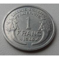 1 франк Франция 1948 г.в. KM# 885a.1 FRANC, из коллекции