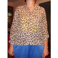 Блузка леопардовая Н&М р.46.