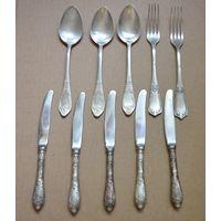Лот столового мельхиора СССР ножи,ложки,вилки с рубля