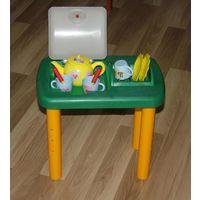 Столик для посуды для маленькой хозяйки
