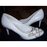 Туфли свадебные белые 36 размер