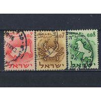 Израиль 1961 Знаки Зодиака Стандарт #225,227,228