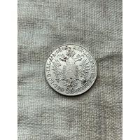 Австрия 20 крейцеров 1848 г.