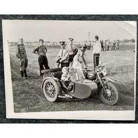 Фото на  мотоцикле. 9х12 см.