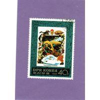 КНДР. Ми-1988.Серия : Покорители моря.Жак-Ив Кусто. 1988.