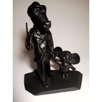 Статуэтка Гена с чебурашкой металл СССР