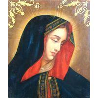 """Икона """"Богородица в скорби"""". Санкт-Петербург, сер. XIX века"""