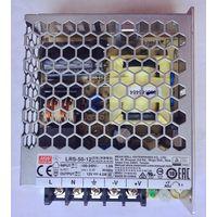 Блок питания 12В, 4.2А, 50Вт Источник Mean Well. 12 Вольт. 4,2 Ампер, 50 Вт. LRS-50-12