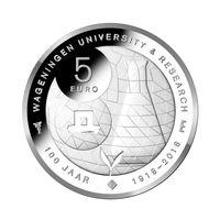 Нидерланды 5 евро 2018 100 лет Вагенингенскому университету UNC блистер