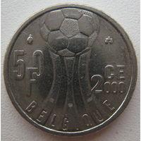 Бельгия 50 франков 2000 г. Чемпионат Европы по футболу. Belgique