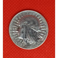 Монета 5 злотых 1934 года. Ядвига. Польша. Серебро.