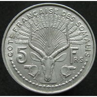 Фр. Сомали 5 франков 1959