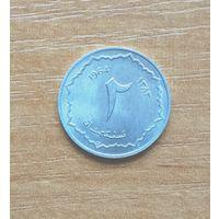 Алжир 2 сантима 1964 г. UNC
