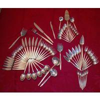 CHRISTOFLE, Франция. Столовые приборы ,серебрение,Антик.Ар - Деко ,1035г.71 предмет на 6 персон.