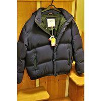 TOMMY ТОММИ оригинальная мужская зимняя утепленная куртка-пуховик размер 50-52 темно-синяя, новая, не подошла по размеру